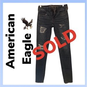 AE Jegging Super Super Stretchy Ripped Jeans